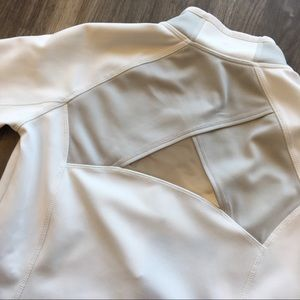 Athleta Jackets & Coats - Athleta Lunar Half-Zip in White